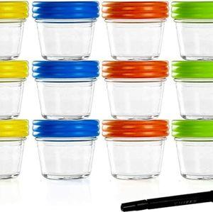 12 Eco Baby Food Glass Jars
